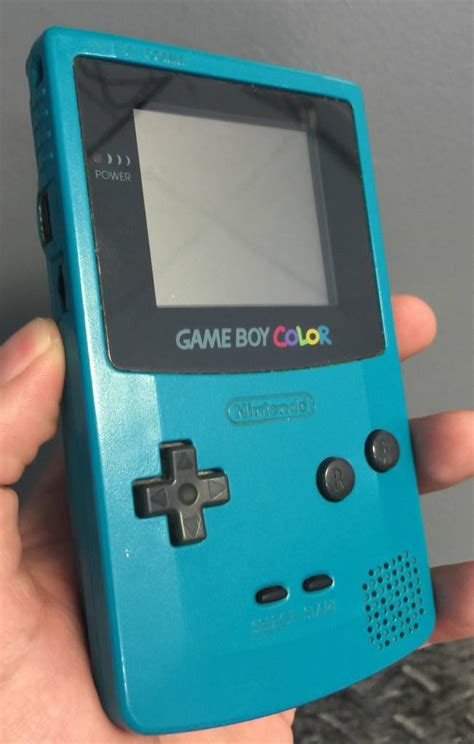 nintendo gameboy color nintendo gameboy color teal gaming console excellent