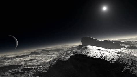 The View From Pluto by The Sun Charon In Pluto S Sky 1080p