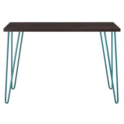 Altra Owen Retro Desk And Stool Set Espresso Teal by Altra Furniture Owen Retro Desk In Espresso With Teal