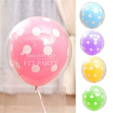 Balon Polkadot Stick polka dot balloons wedding marriage room wholesale