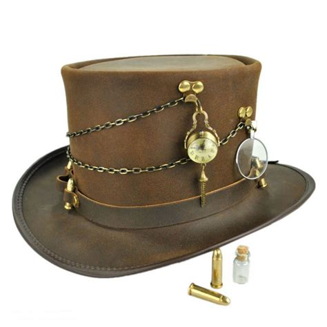 top hat n home trinket ammo band leather top hat top hats