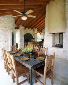 Rustic covered patio patio rustic with wood ceiling outdoor dining