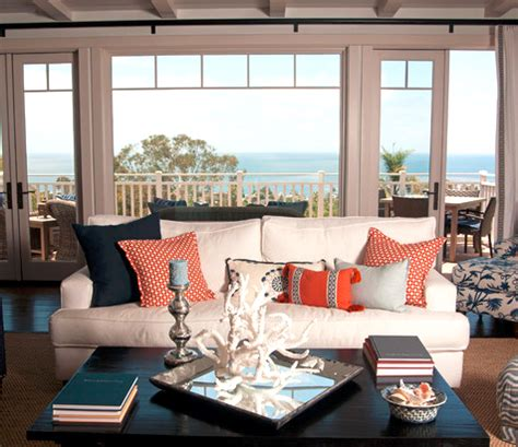 go coastal with blue and orange room decor completely