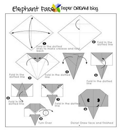 How To Fold Origami Elephant - easy origami elephant origami