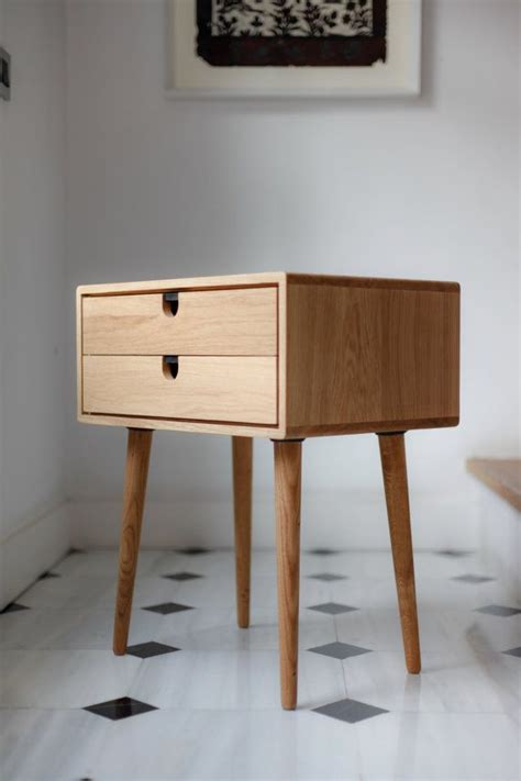 mid century modern bedside table mid century modern solid oak nightstand with