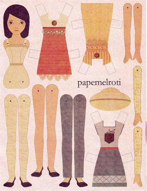 printable jointed paper doll articulated paper doll articulated fun pinterest