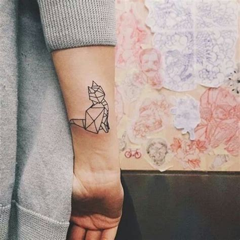 geometric cat tattoo 32 awesome cat wrist tattoos designs