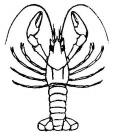 Galerry cartoon lobster coloring page