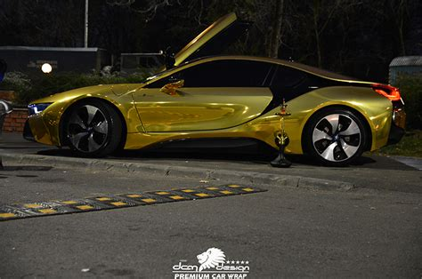 bmw i8 gold bmw i8 gold chrome dcm design