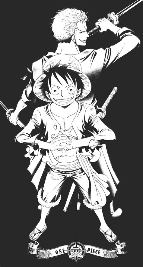 Kaos Anime Series Luffy 01 monkey d luffy and roronoa zoro by oda eiichirou in the