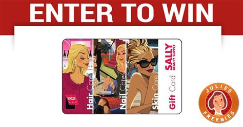 Sally S Gift Card - enter to win a 100 sally beauty gift card julie s freebies