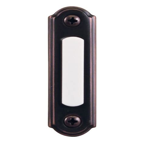 hton bay wired lighted door bell push button