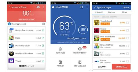 free cleaner for android clean master for android free cleaning apps