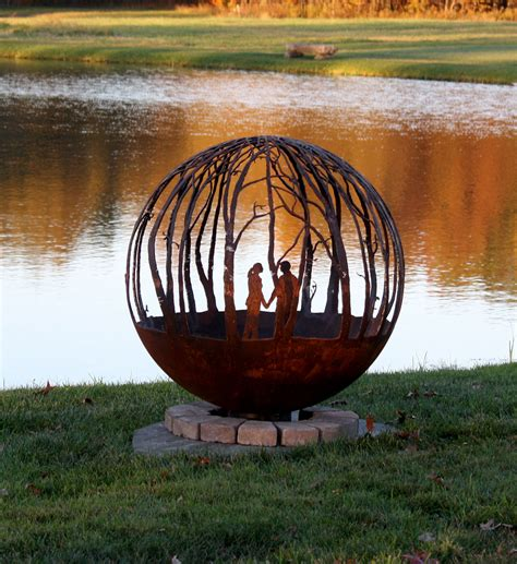 winter woods pit sphere design your own the