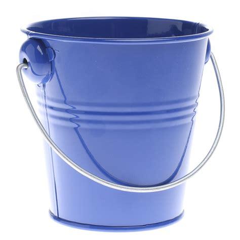 Royal Blue Metal Pail   Baskets, Buckets, & Boxes   Home Decor
