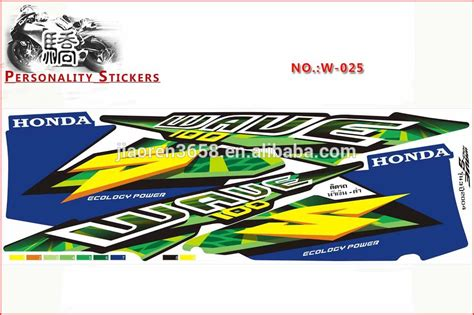 Honda Wave Sticker by Honda Wave 100 Sticker Design
