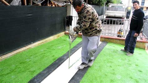 tappeti sintetici installazione giardino in erba sintetica