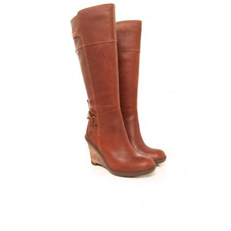 timberland stratham heights wedge boots med brwn shoesusblog