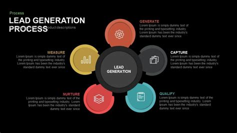 lead generation template process flow diagrams slidebazaar