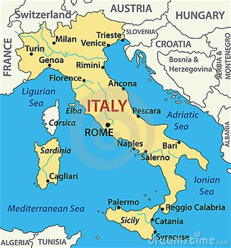 Interactive Geography 3 Fam Et Al kaart itali 235 illustratie royalty vrije stock