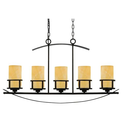 Kitchen Island Bar Lights 5 Light Kitchen Island Pendant Light Bronze Frame With Onyx Shades