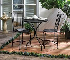Bistro Table Patio 3 Patio Bistro Set Table And 2 Chairs Black Metal New 10015460 Ebay