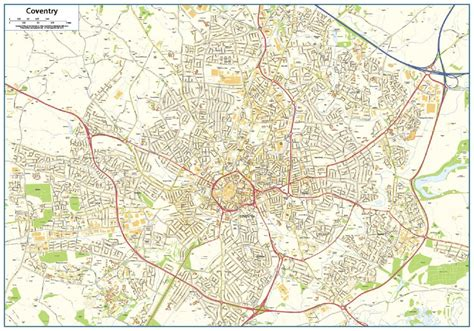 map uk coventry coventry map 163 16 99 cosmographics ltd