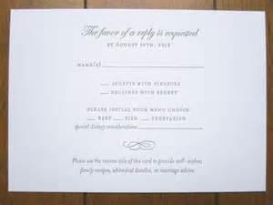 wedding rsvp card wording rsvp wording wedding