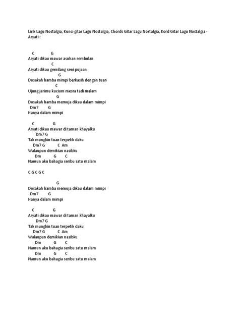 Chord Gitar Lagu Memori Berkasih - Chord Gitar Lagu Lagu