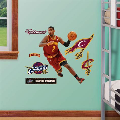 custom fatheads wall stickers kyrie irving fathead jr wall decal shop fathead 174 for