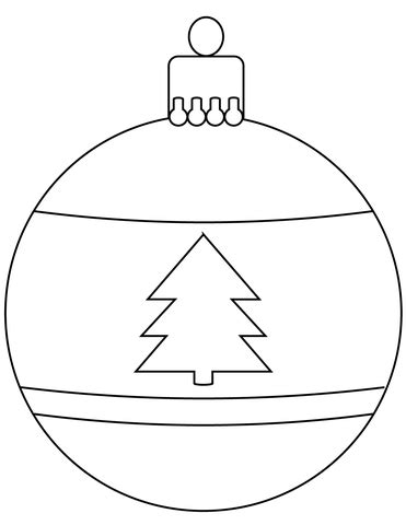 Christmas Bauble Ornament Coloring Page Free Printable Coloring Pages Templates For Ornaments