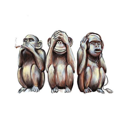 evil monkey tattoo designs pin by tie dye on los tres monos sabios in 2019