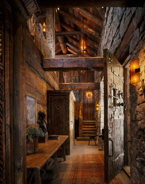 log home lighting design hallway fragments