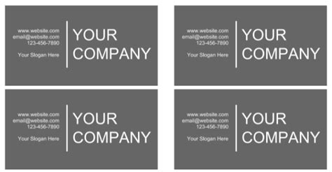 doc template for business card how docs can help you come across as a professional
