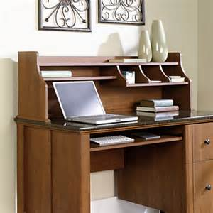 Office Depot Appleton Sauder Appleton Hutch For Computer Desk Sand Pear By