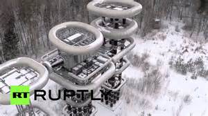 Tesla In Russia Drone Footage Tesla Tower In Russian Winter