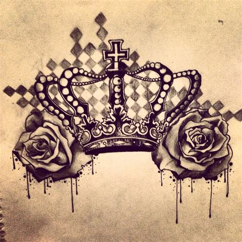 crown with roses tattoo crown and roses tatted up i