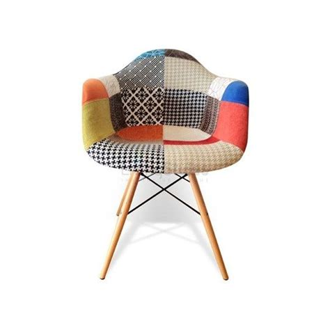 Patchwork Dining Chairs - replica eames fabric patchwork daw armchair replica