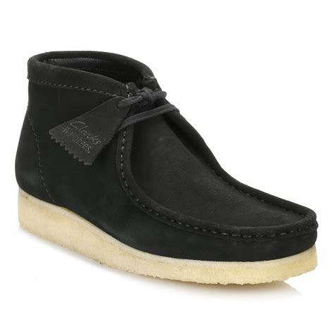 clarks mens suede boots clarks mens black wallabee suede boots 26117859