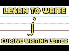 learn to write cursive writing letter j from kidrhymes