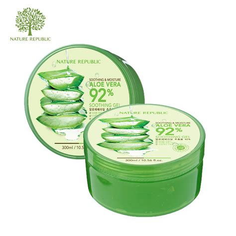 Nature Republic Soothing Gel For Acne aloe vera 92 soothing gel by nature republic msjoyceeblog