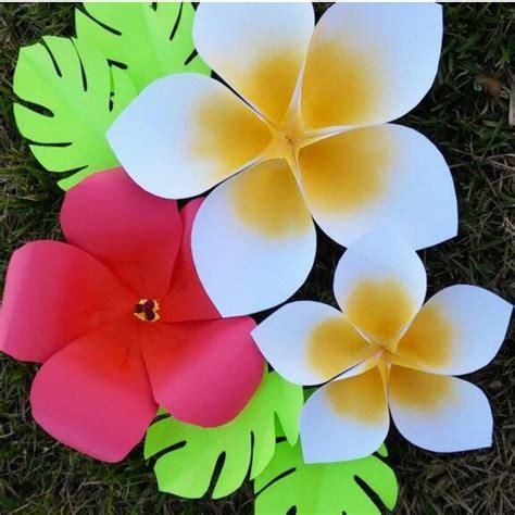 Hawaiian Flowers Paper Flowers Large Paper Flowers