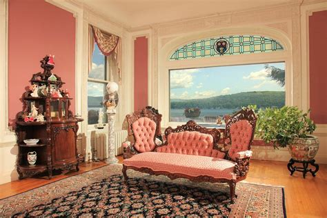 Royal Garden Peabody by 13m Tudor Revival Mansion On Lake George Has Historic
