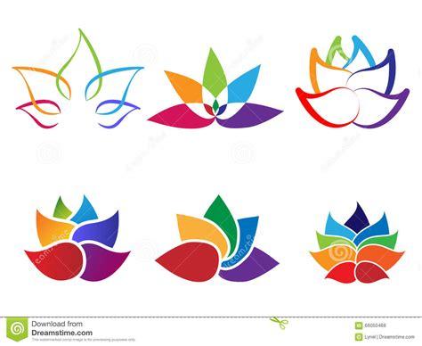 logo fiori logo dell estratto fiore di loto dell arcobaleno