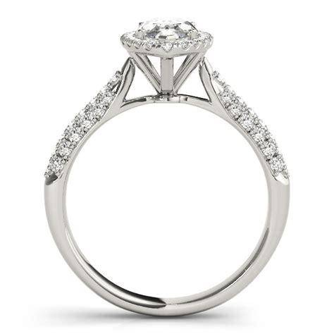 marquise halo engagement ring 18k white gold 2