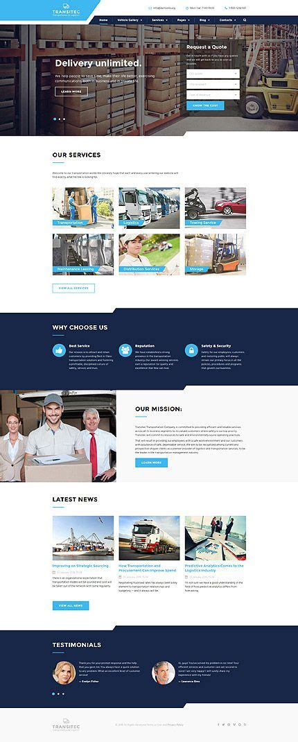 1000 Ideas About Website Themes On Pinterest Wordpress Theme Html Website Templates And Courier Website Template