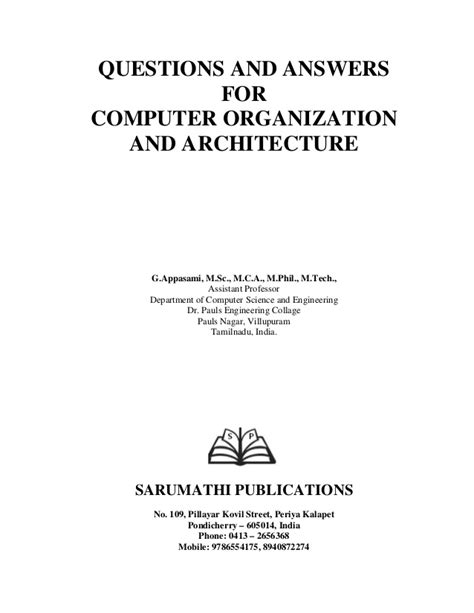 computer organization and architecture questions and answers