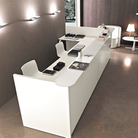 Front Office Desks Guangdong Office Furniture Modern Fashion Plate Cashier Front Desk Front Desk Reception Table