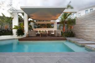pool area ideas custom pool area covered outdoor lounge patio uplit with