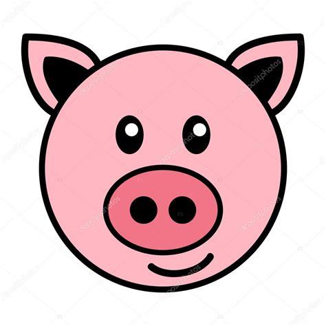 imagenes vectoriales simples simples dibujos animados de un cerdo lindo archivo